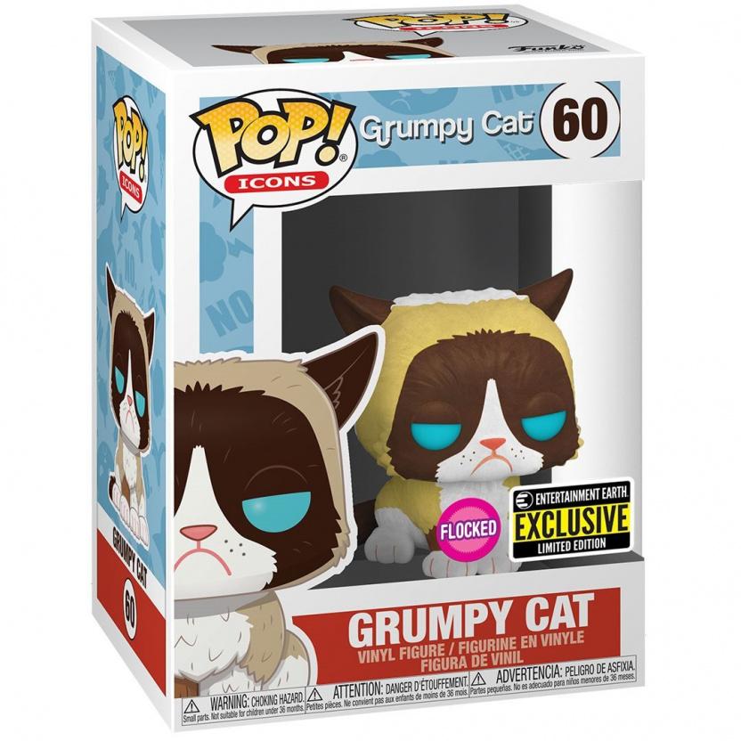 Grumpy Cat Funko Pop - Grumpy Cat Flocked Funko Pop! Vinyl Figure - Exclusive! in box