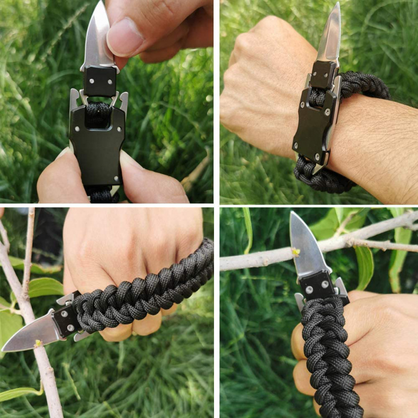 Paracord Tactical Knife Emergency Survival Bracelet examples
