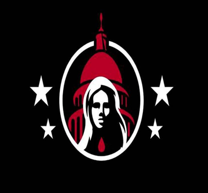 Right-wing extremists Ashli Babbit Capitol insurrectionist flag