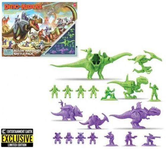 Special Edition Retro Dino-Riders Rulon Warriors Battle Pack with box