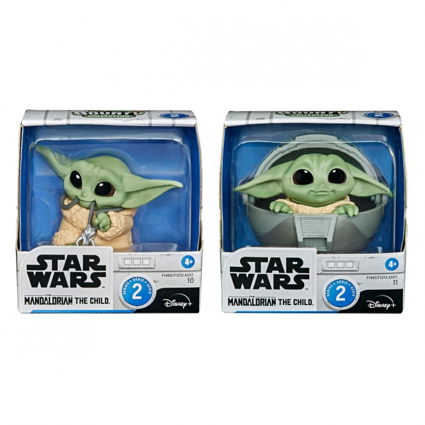Star Wars The Mandalorian Baby Bounties Wave 2 Case - Baby Yoda eating ball in boxes