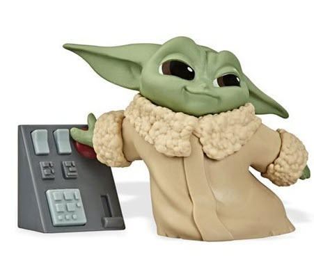 Star Wars The Mandalorian Baby Bounties Wave 2 Case - Baby Yoda with keypad