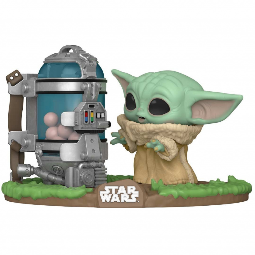Baby Yoda with Egg Canister Funko Pop - Mandalorian The Child Deluxe Vinyl Figure