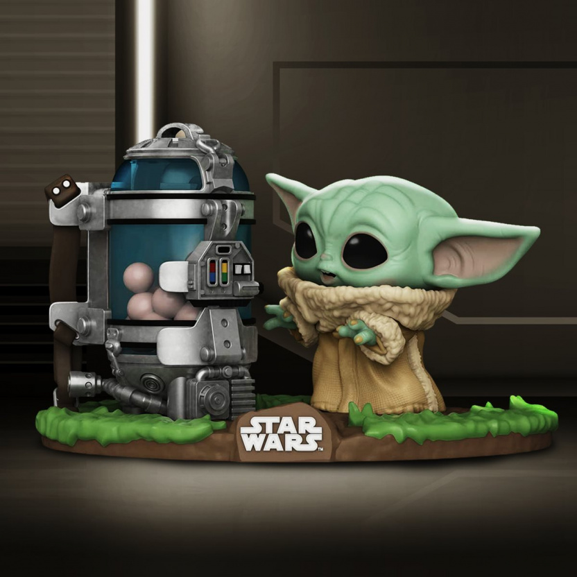 Baby Yoda with Egg Canister Funko Pop - Mandalorian The Child Deluxe Vinyl Figure scene