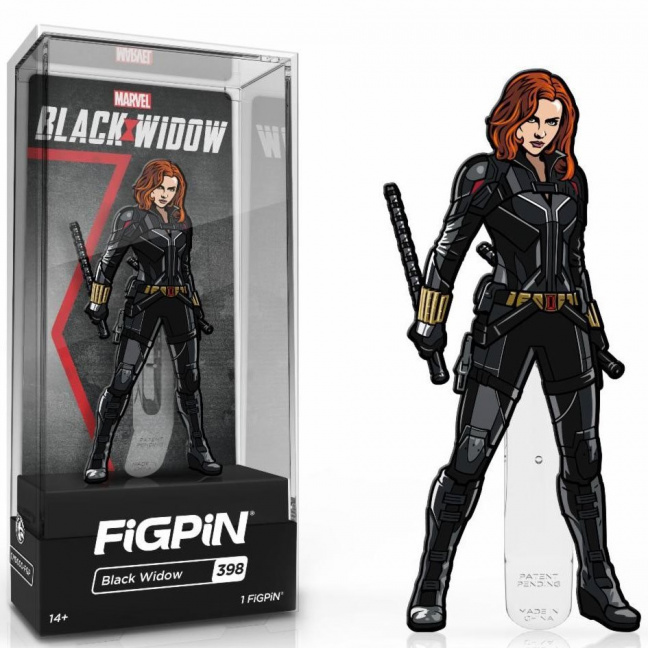 Black Widow Figpin Pin - 3-inch enamel pin 2021 Black Widow movie
