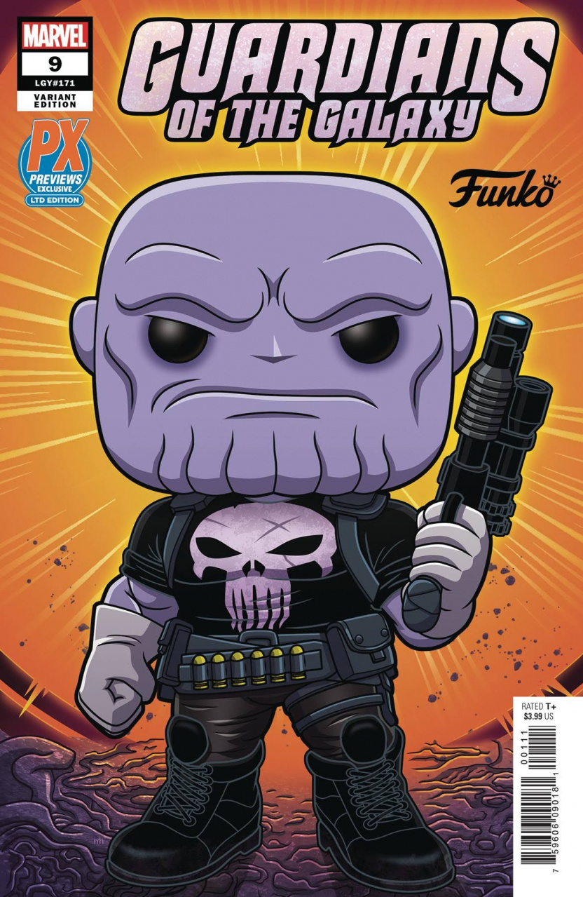 Funko Guardians of the Galaxy #9 comic - Previews Exclusive Limited Variant Edition LGY#171