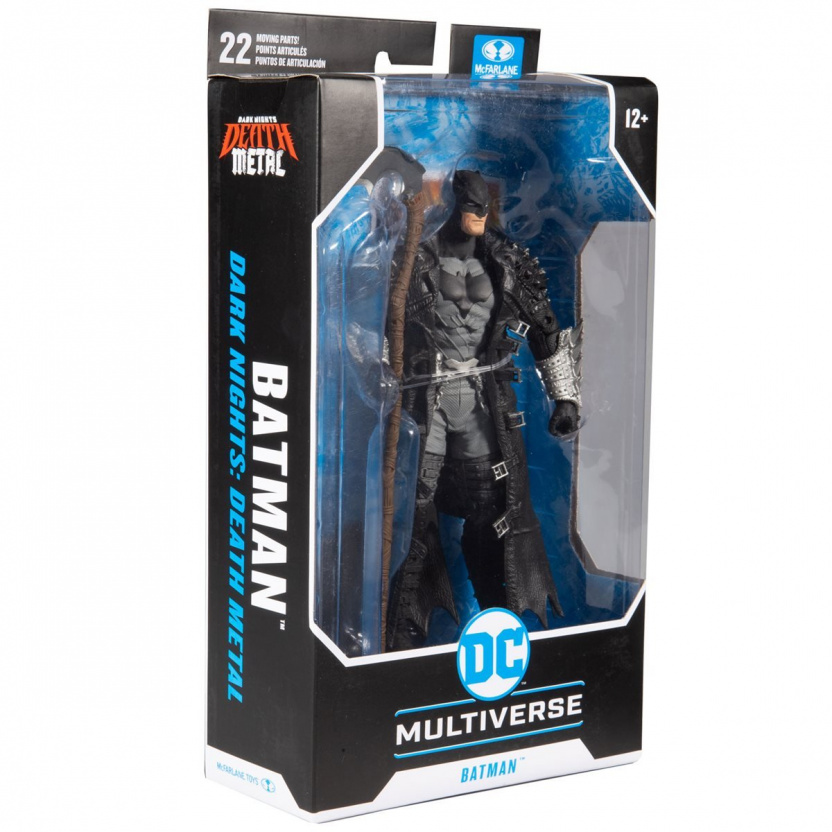 MacFarlane DC Multiverse Death Metal Batman 7-Inch Action Figure in box corner