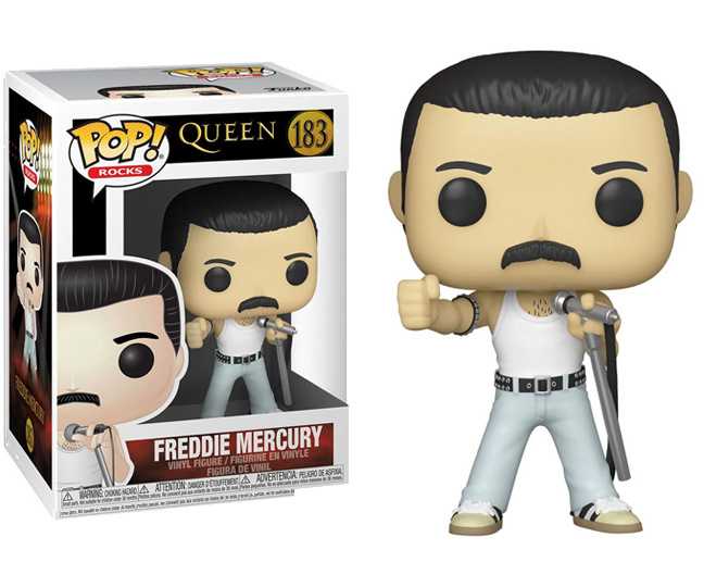 Freddie Mercury Funko Pop Figure - Queen Freddie Mercury Radio Gaga Pop Vinyl Figure #183 with box