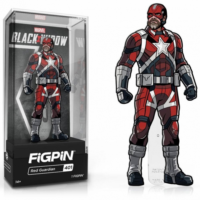Red Guardian Figpin Pin - Figpin 3-inch enamel pin from 2021 Black Widow movie
