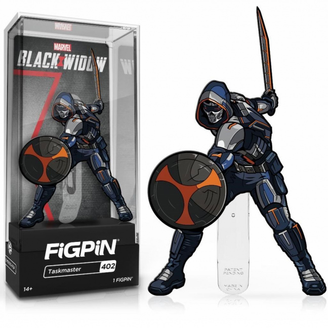 Taskmaster Figpin Pin - Figpin 3-inch enamel pin from 2021 Black Widow movie