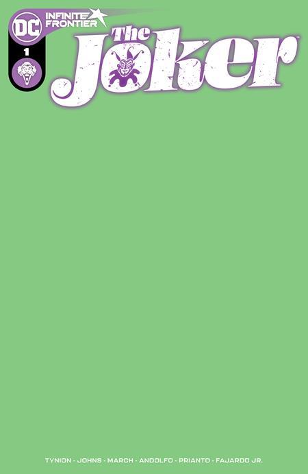 Joker #1 Cover D Blank (green) Variant