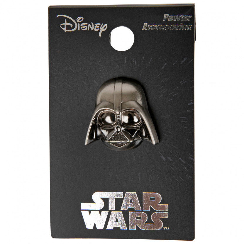 Star Wars Darth Vader Pewter Lapel Pin on hang tag