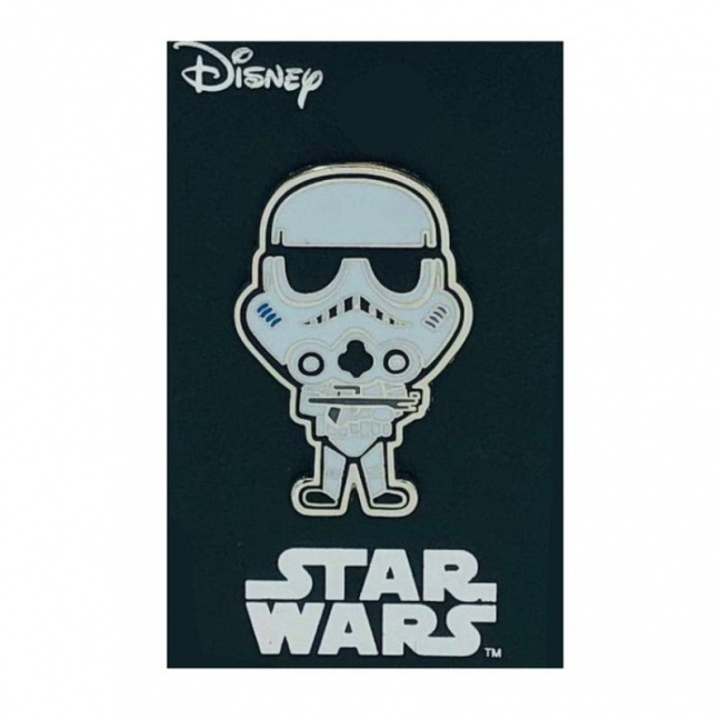 Star Wars Stormtrooper Pin on hang tag