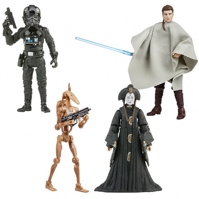 Star Wars The Vintage Collection 2020 Action Figures Wave 5 - TIE Fighter Pilot, Anakin, Amidala, Battle Droid