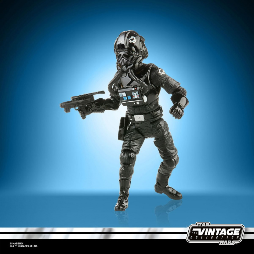 Star Wars The Vintage Collection 2020 Action Figures Wave 5 - TIE Fighter Pilot side