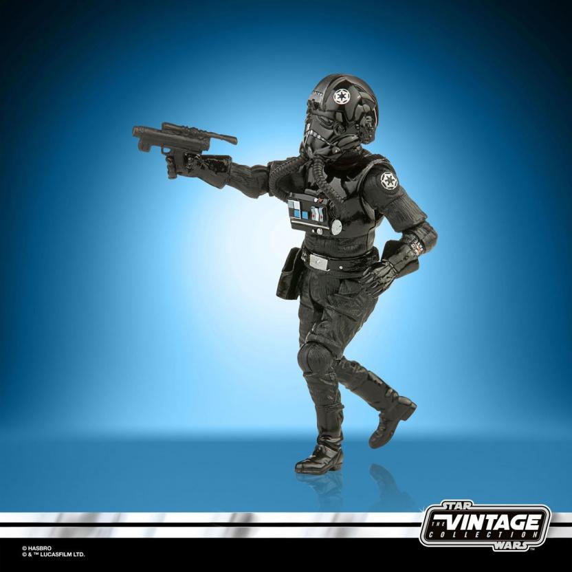 Star Wars The Vintage Collection 2020 Action Figures Wave 5 - TIE Fighter Pilot side gun