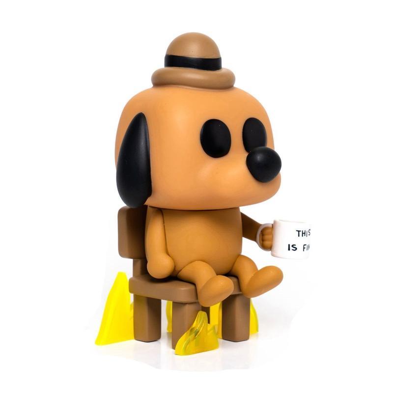 This is Fine Dog Funko Pop! Vinyl Figure #56 - side sitting