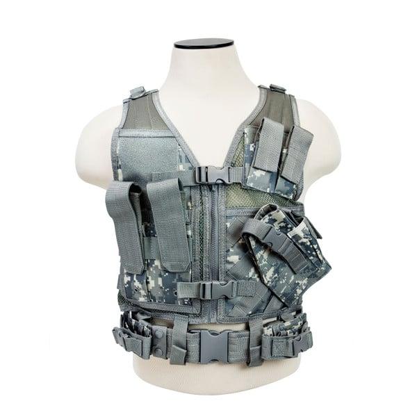 Vism Tactical Vest with Digital Camo Print