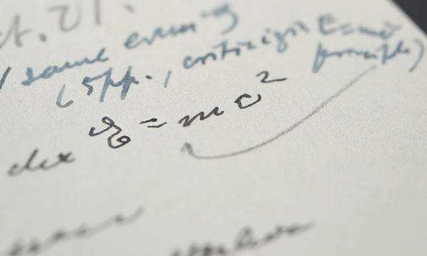 Albert Einstein letter containing famous E=MC2 equation in his own hand close