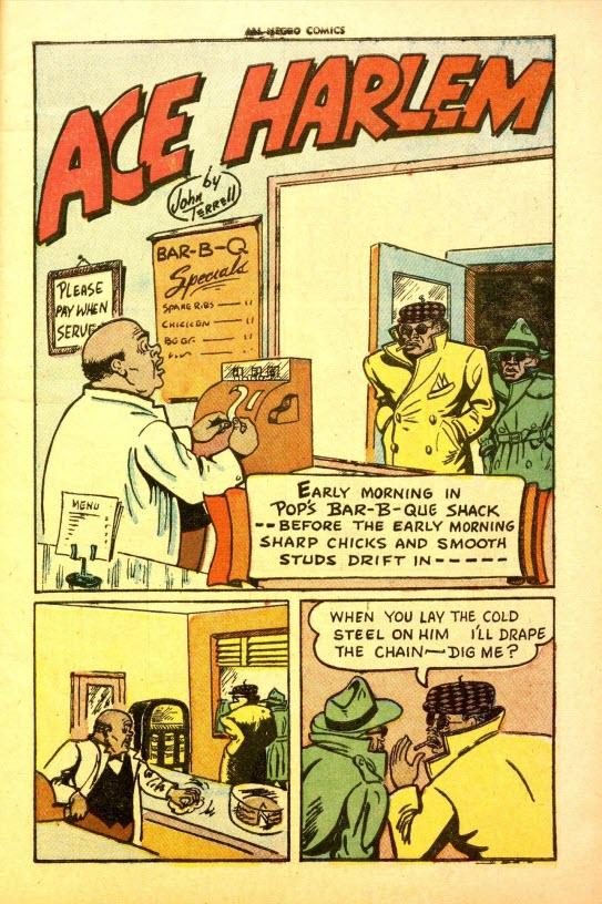All-Negro Comics #1 - Ace Harlem by John Terrell