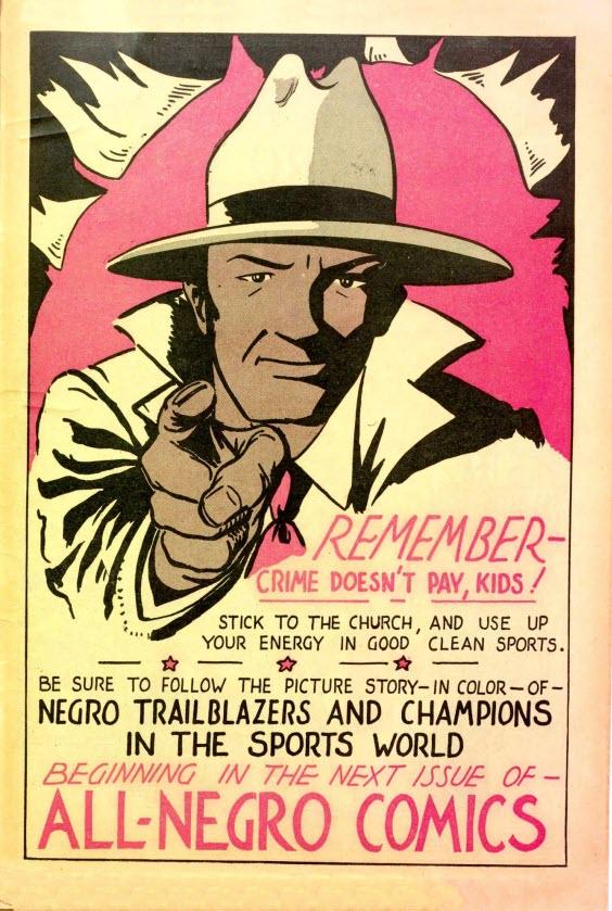 All-Negro Comics #1 - Public Service Announcement