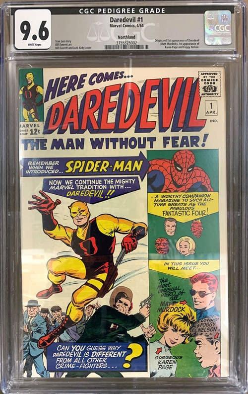Daredevil #1 CGC grade 9.6