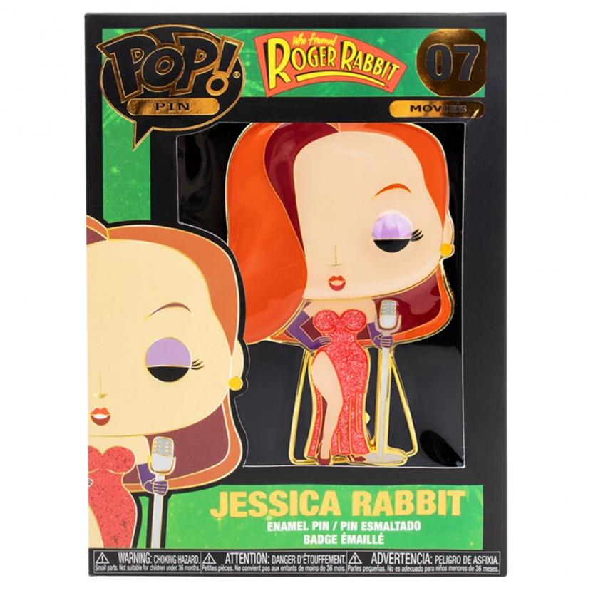 Jessica Rabbit enamel pin - Jessica Rabbit Large Funko Pop! Enamel Pin in box