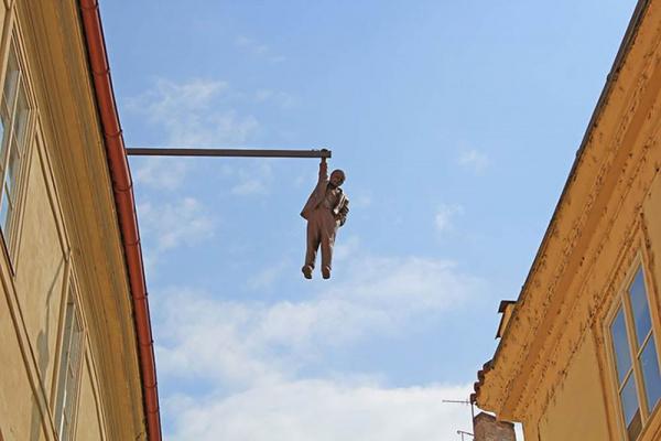 Man Hanging Out - by David Černý (Prague, Czech Republic)