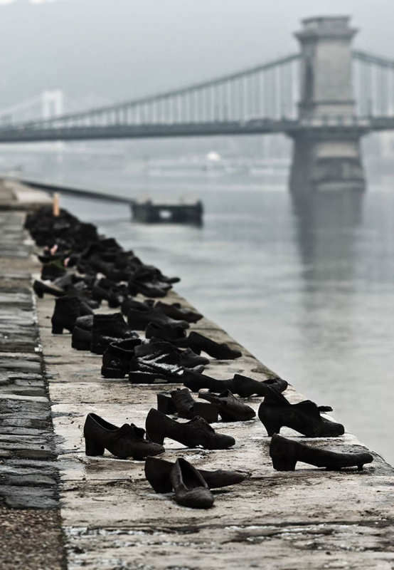 Shoes on the Danube Bank - by Gyula Pauer (Budapest, Hungary)