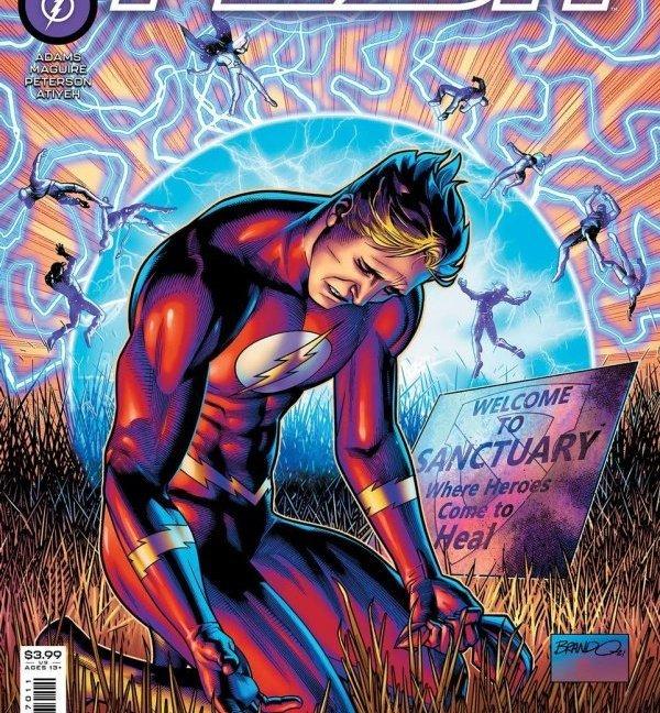 Flash #771 Brandon Peterson original cover