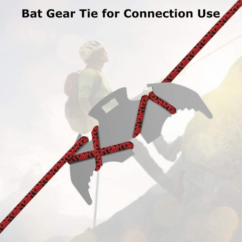 Folding Gravity Claw / Mini Grappling Hook gear tie use