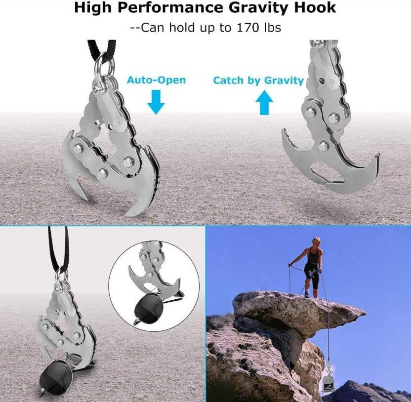 Folding Gravity Claw / Mini Grappling Hook gravity hook