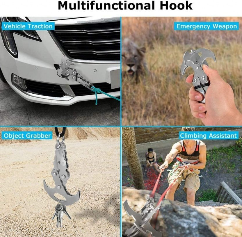 Folding Gravity Claw / Mini Grappling Hook more uses