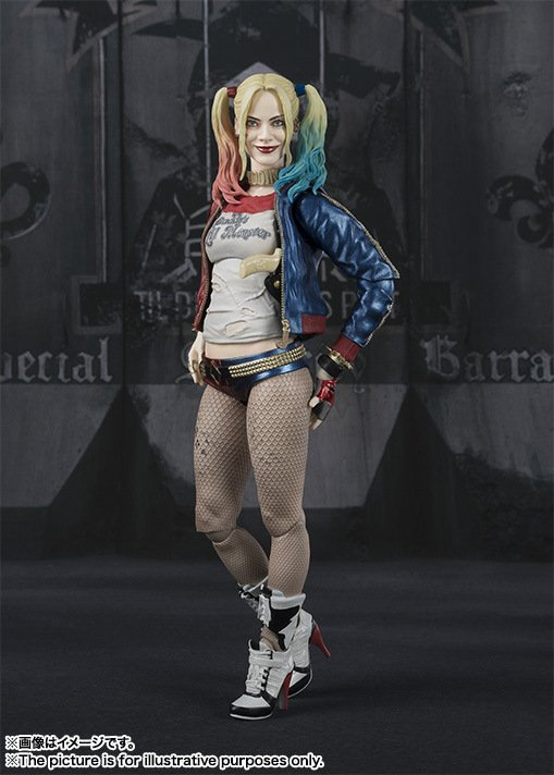 Harley Quinn 6-inch figure with exchangeable parts and accessories side
