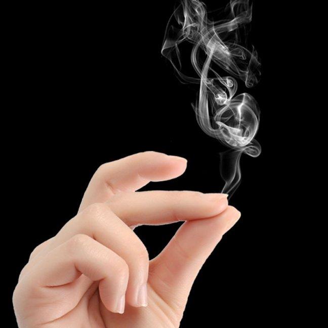 Hell's Smoke - smoke from fingers (smoke paper) magic trick smoke