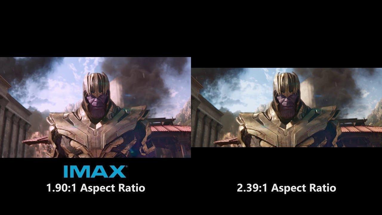 IMAX 1.90:1 vs 2.39:1 aspect ratio comparison