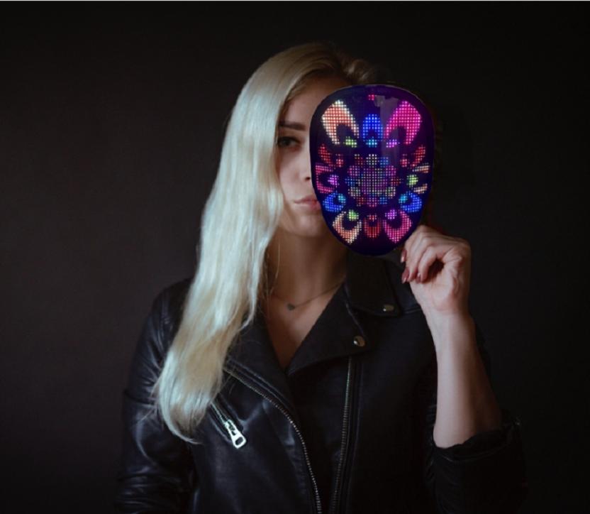 Programmable LED light mask - beautiful patterns