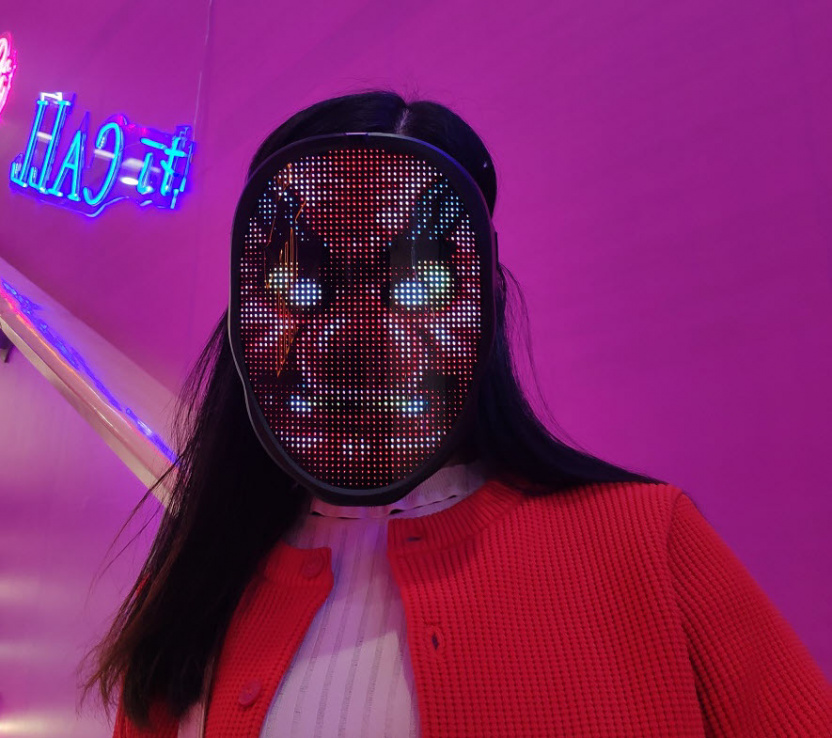 Programmable LED light mask - big nose mask