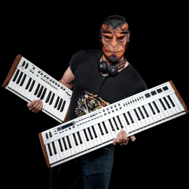 Programmable LED light mask - Hellboy face mask