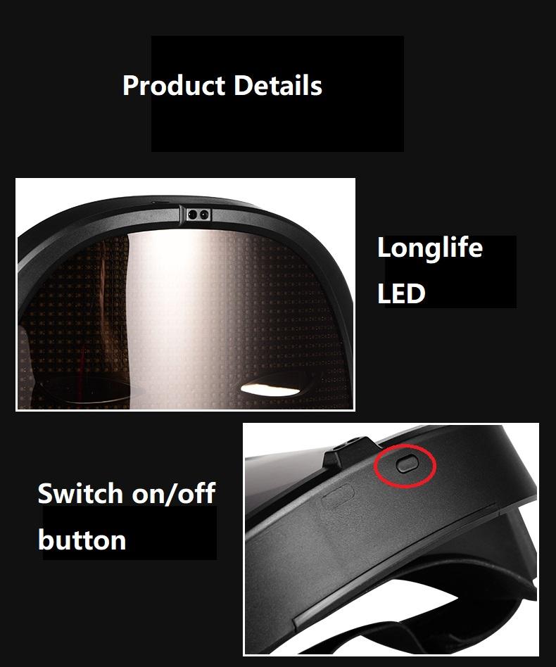 Programmable LED light mask - product details