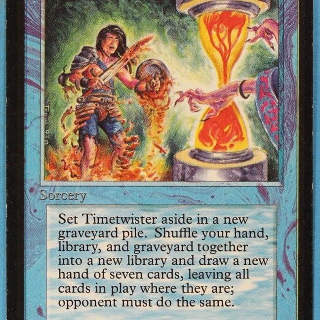 Rare Timetwister Magic the Gathering card