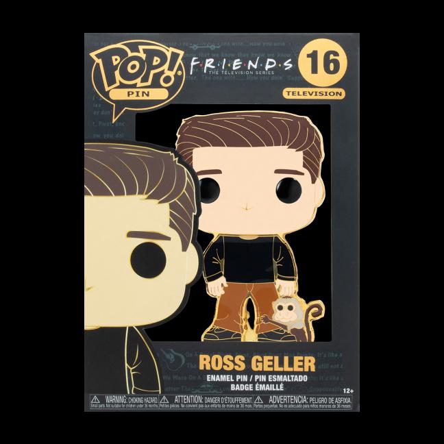Ross with Monkey pin - Friends Ross with Monkey Large Enamel Funko Pop! Pin in box