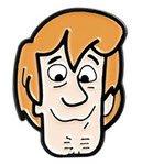 Scooby-Doo metal enamel pins Shaggy