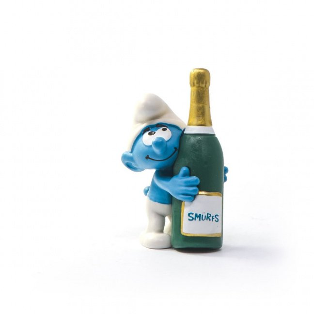 Smurfs Smurf with Bottle Collectible Figure