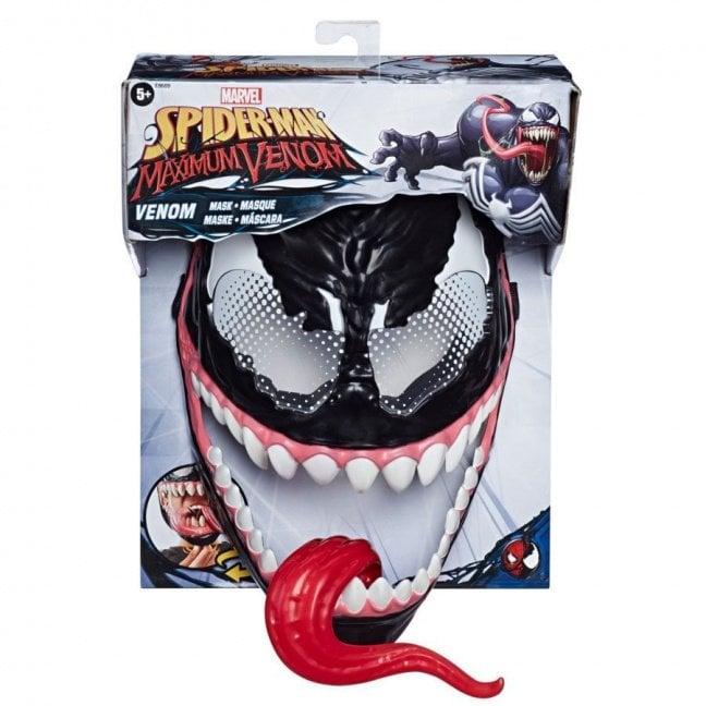 Spider-Man Maximum Venom Mask in box tongue out