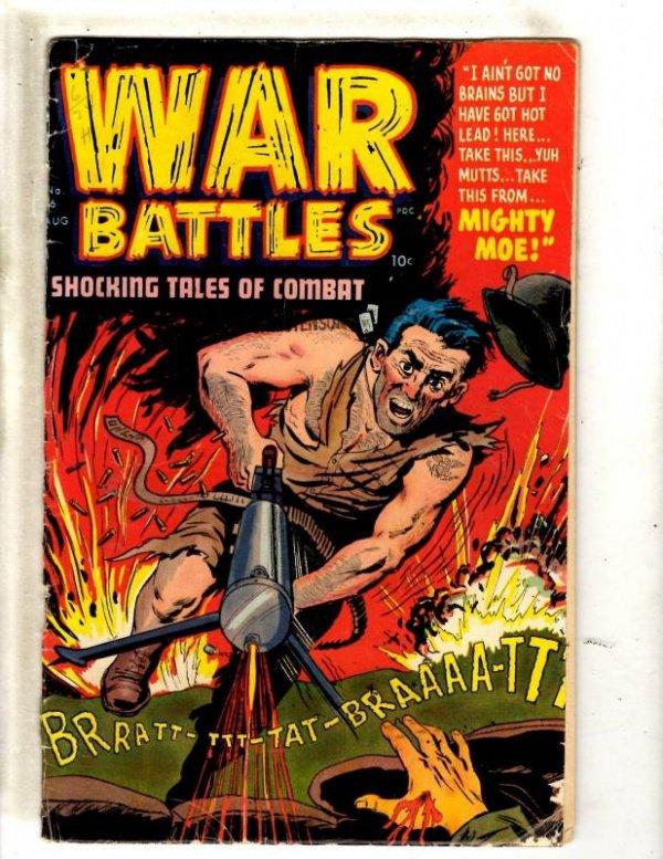Golden Age of Comics - War Battles Shocking Tales of Combat #6 (Pre-code era)