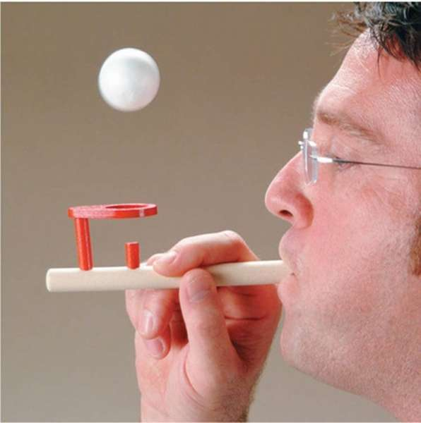 Wooden Floating Ball Gadget in use 2