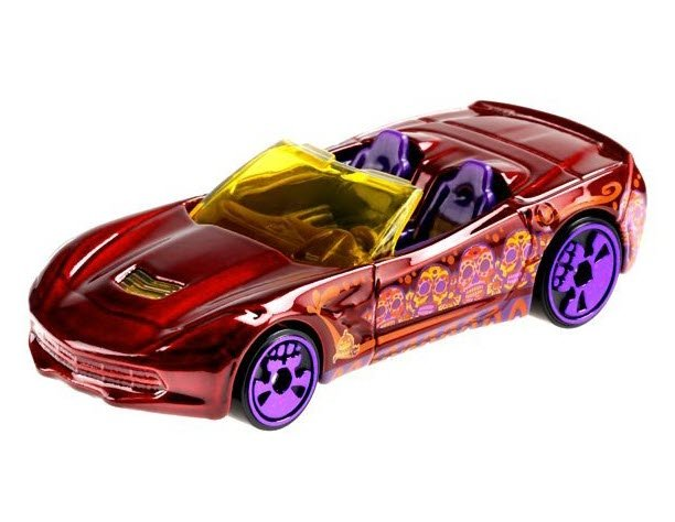 Hot Wheels Halloween Day of The Dead Corvette Stingray