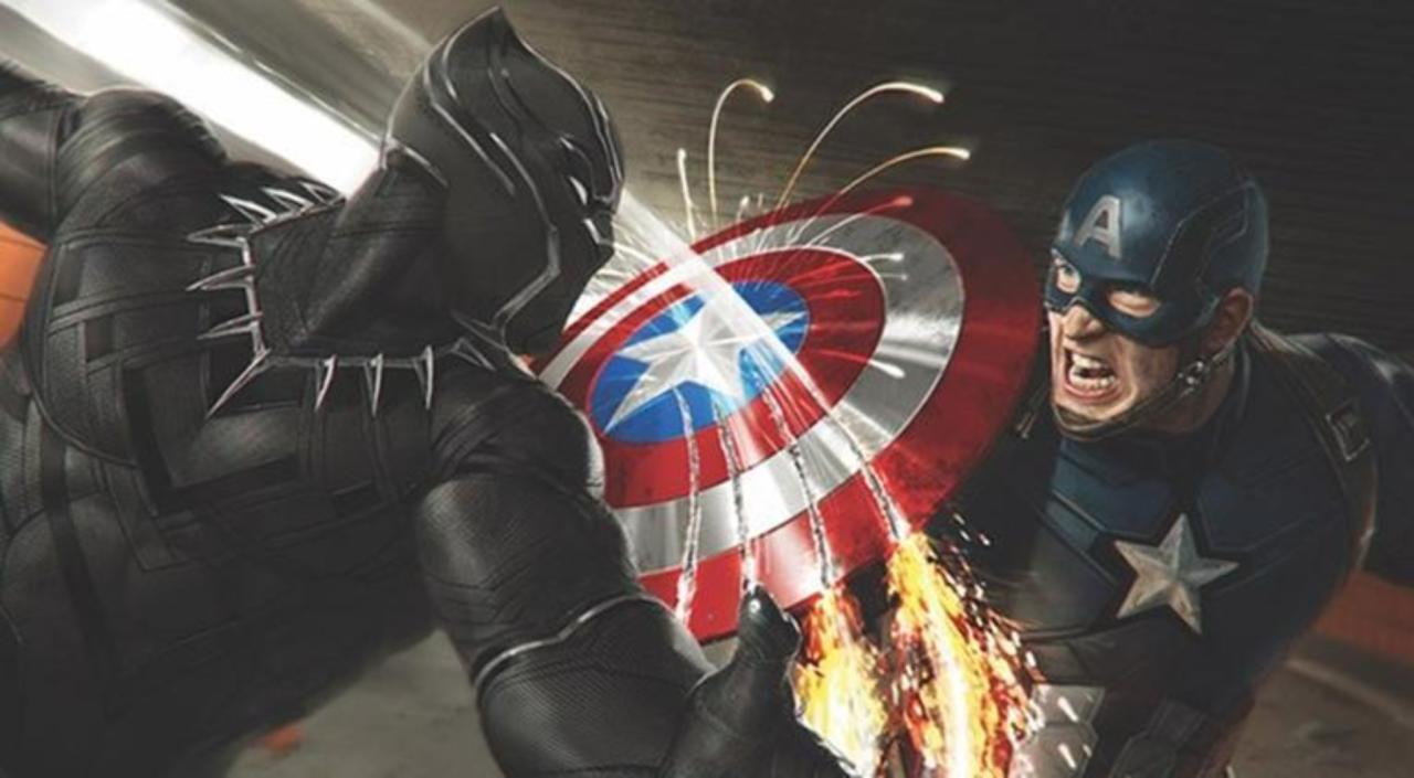 Black Panther's Vibranium claws vs. Captain America's Vibranium shield