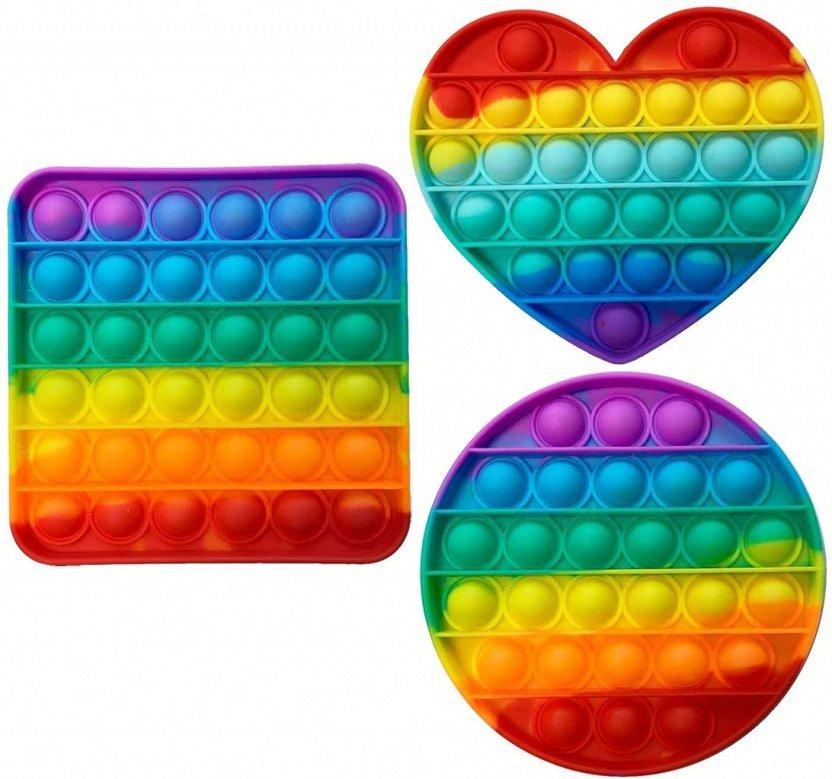 Bubble Popper Fidget Toy - Rainbow bubble popper sensory fidget toy back